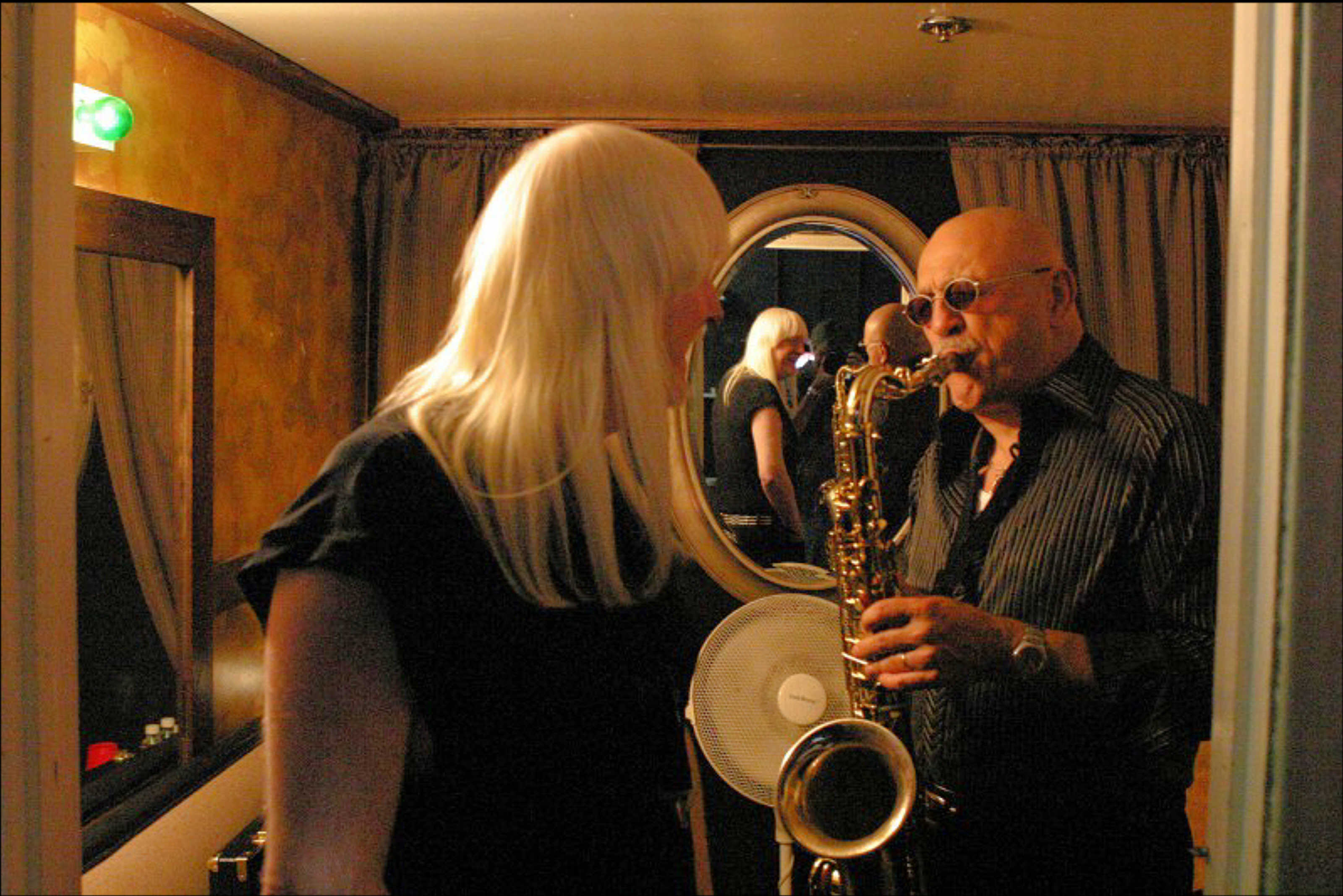 Jon and Edgar Winter Backstage in 2009