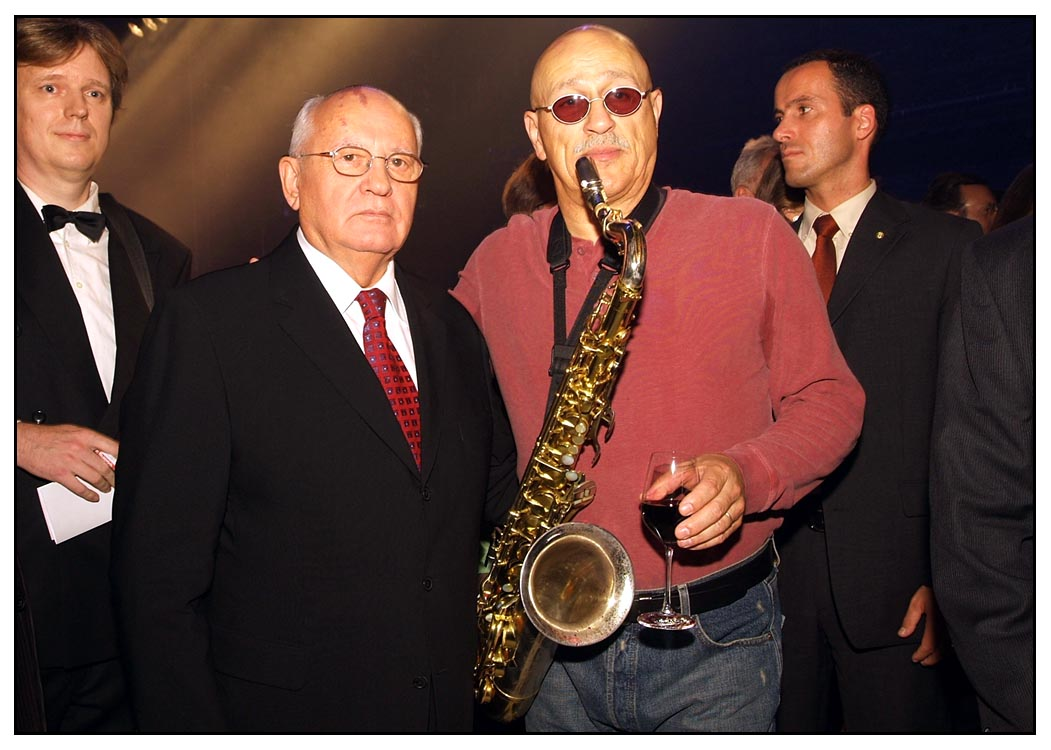 Jon with Mikhail Gorbachev in Berlin 2005